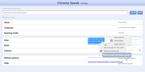 Chrome Speak 1