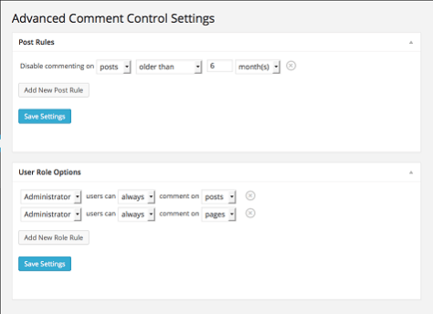 Advanced Comment Control