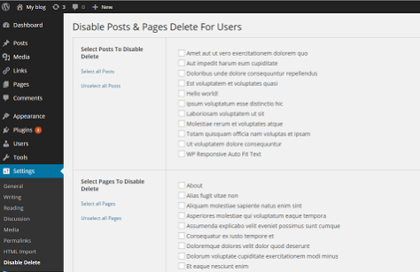 Disable Posts & Pages Delete For Users