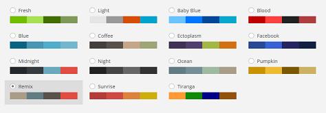 WP Admin Color Schemes 3