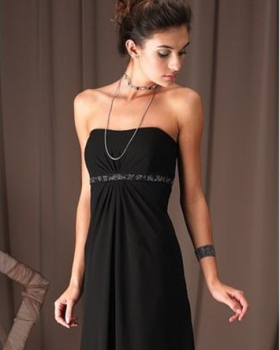 evening black prom dress picture