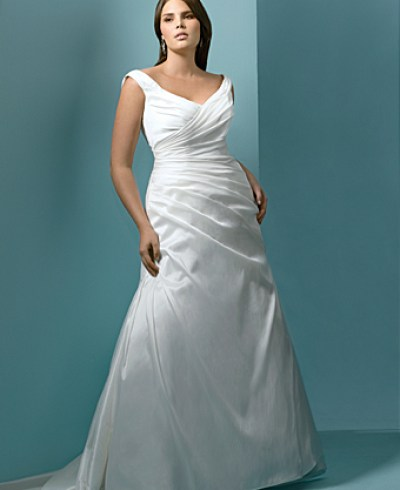 full-length plus size strapless wedding dresses picture