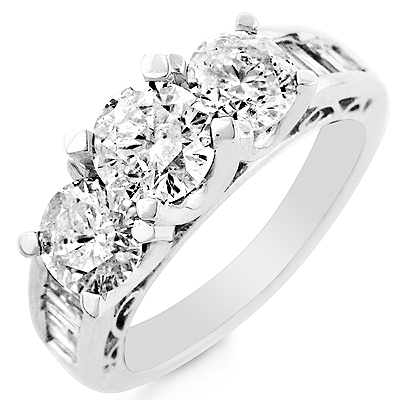 white gold diamond ring with unique design
