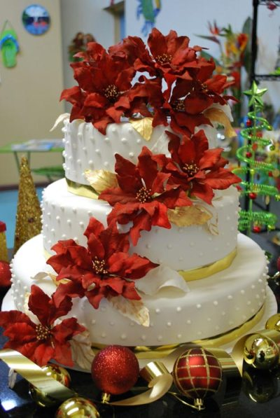 christmas wedding cake ideas