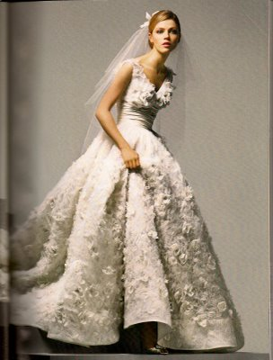 flower applique wedding dress