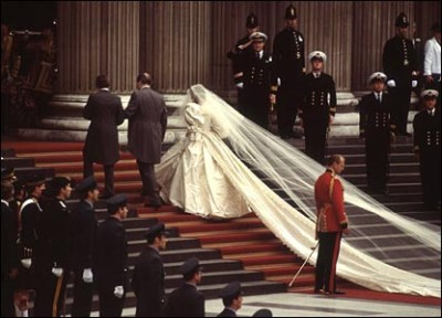 royal train white wedding dress