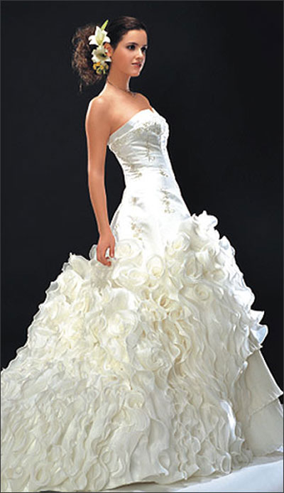 ideal white wedding dress
