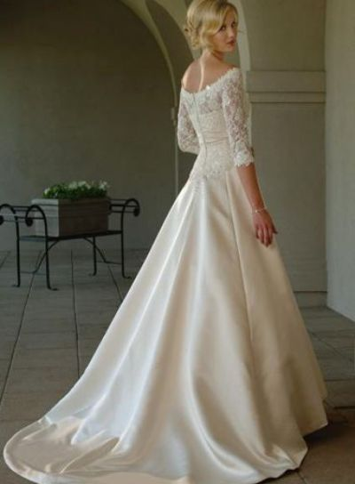 personalized lace wedding dress