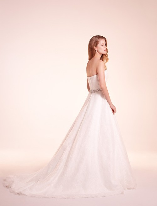 alita graham strapless a-line wedding gown 2012