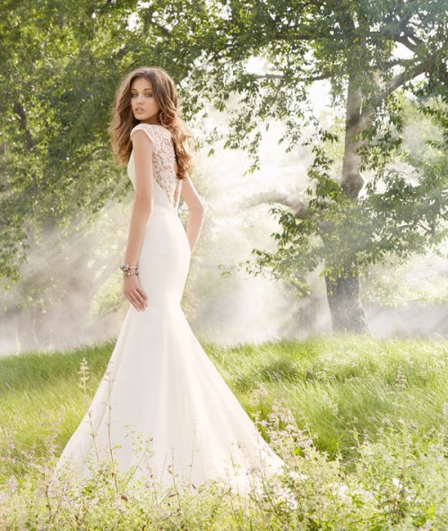 blush ivory organza bridal gown 2013 fall collection 02