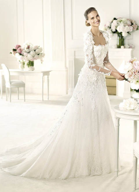 lace wedding dresses with sleeves and open back