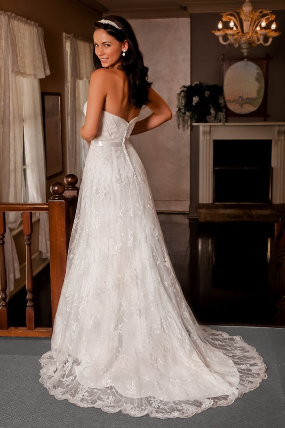 Classical and Chic Strapless Vintage Lace Wedding Dresses ...