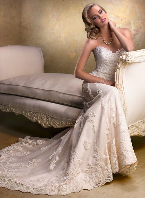 vintage lace wedding dresses sweetheart