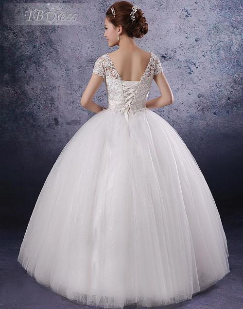unique princess wedding dress with corset back