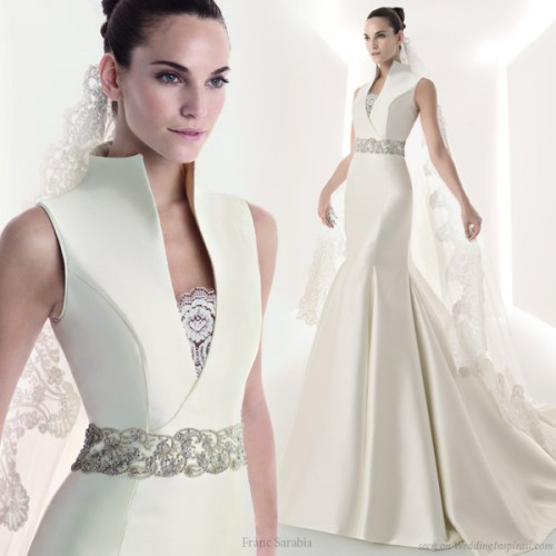 wedding dresses with collars