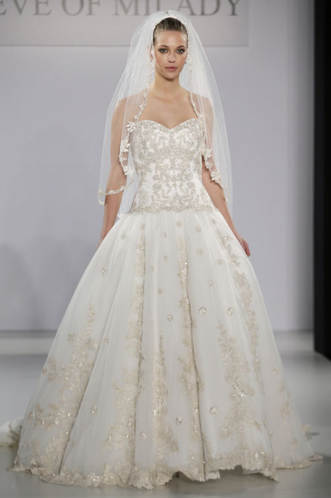 ball gown wedding dress with golden accents