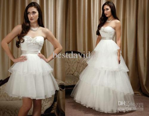 sweetheart ball gown wedding dress with detachable skirt
