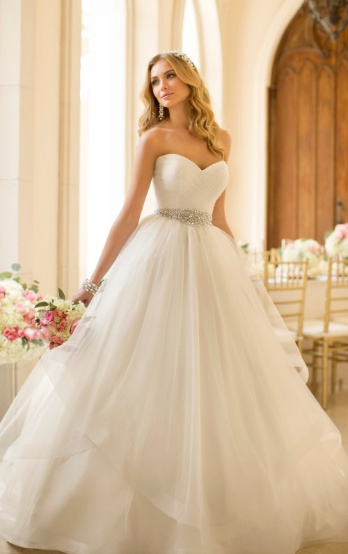gorgeous  sweetheart ball gown wedding dress from Stella York