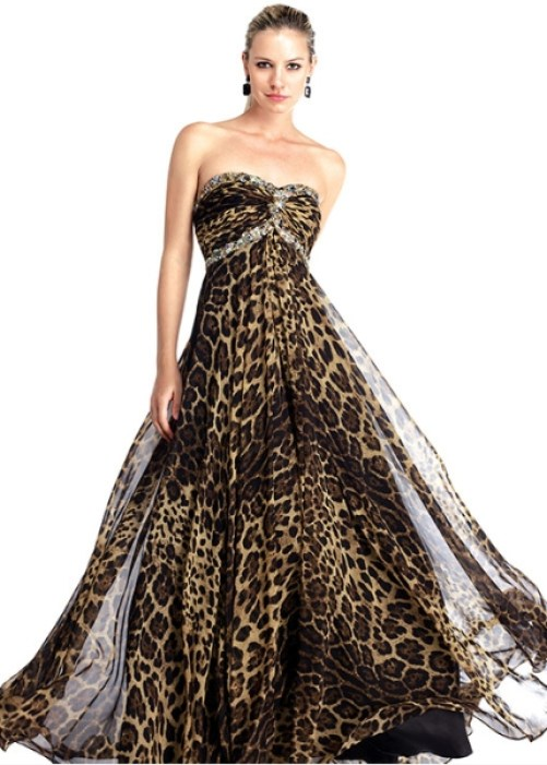 leopard print wedding dress
