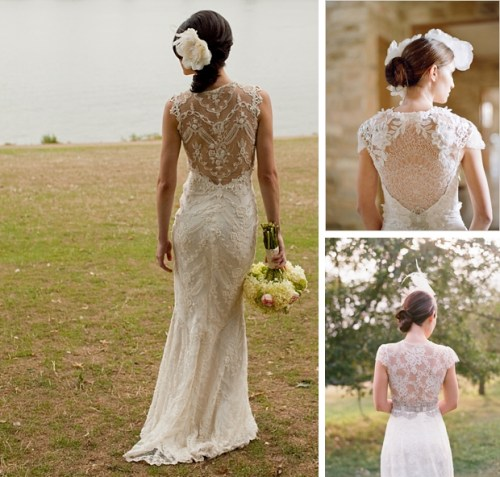 wedding dresses with illusion back