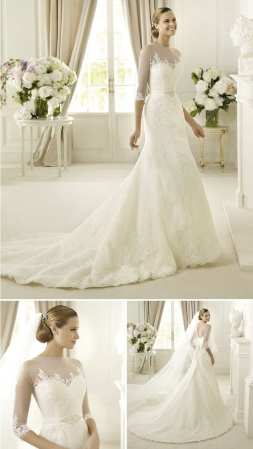 wedding dresses with illusion sleeves