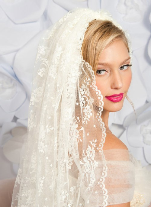 spanish mantilla lace wedding veil