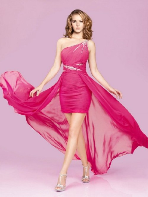 short pink wedding guest dress for teenagers