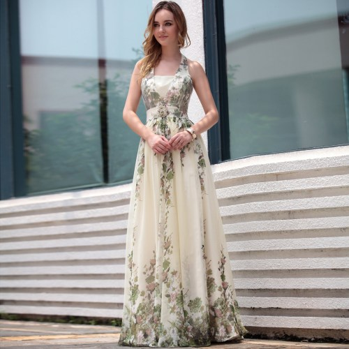 a-line boho wedding dress with floral accent