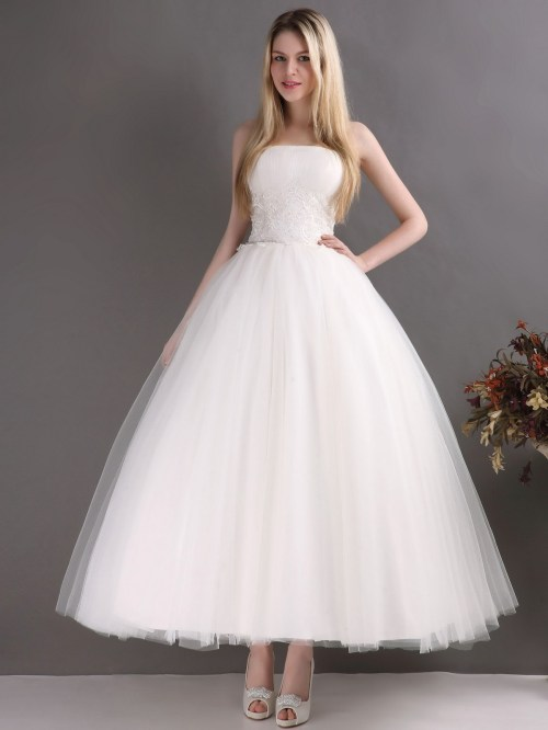 ankle length wedding dresses