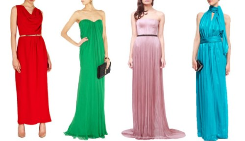 colored black tie wedding guest dresses