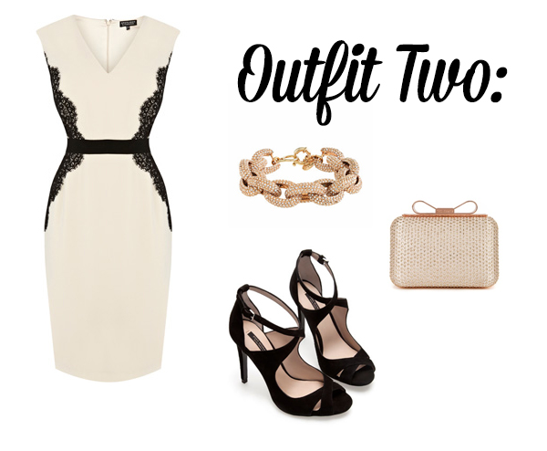 monochrome wedding guest outfits