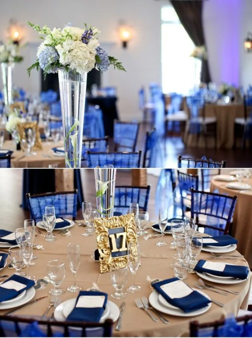 navy wedding decorations beautiful navy blue wedding decorations to inspire you 6133