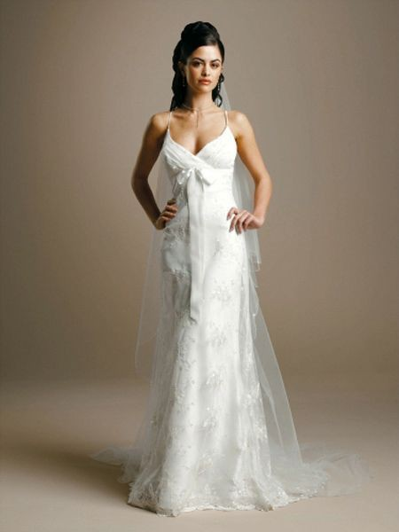 spaghetti strap wedding dresses