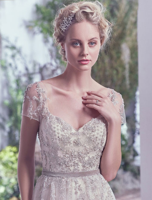 1920's style maggie sottero wedding dress