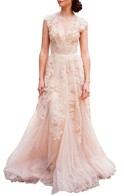 99 dollar wedding dress with cap sleeves