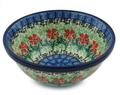 handmade and hand painted pottery bowl