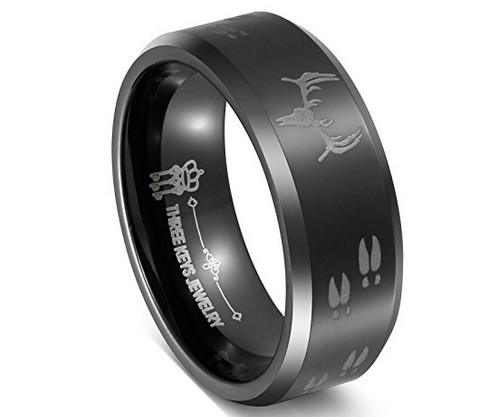 mens deer wedding band