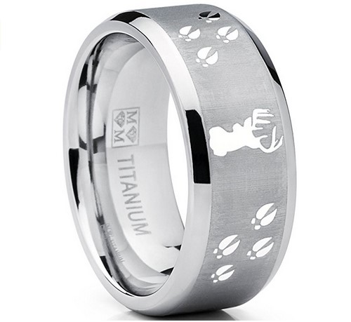 mens deer wedding bands