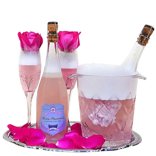 rose champagne bath bomb bridal shower gift for her