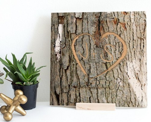 personalized tree bark