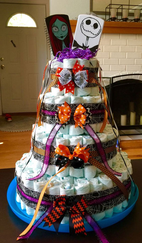 the nightmare before christmas baby shower cake