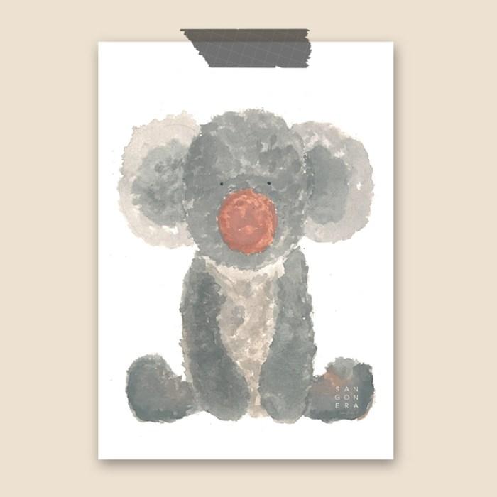 Koala, dibujo acuarela, ilustración, Sangonera Design