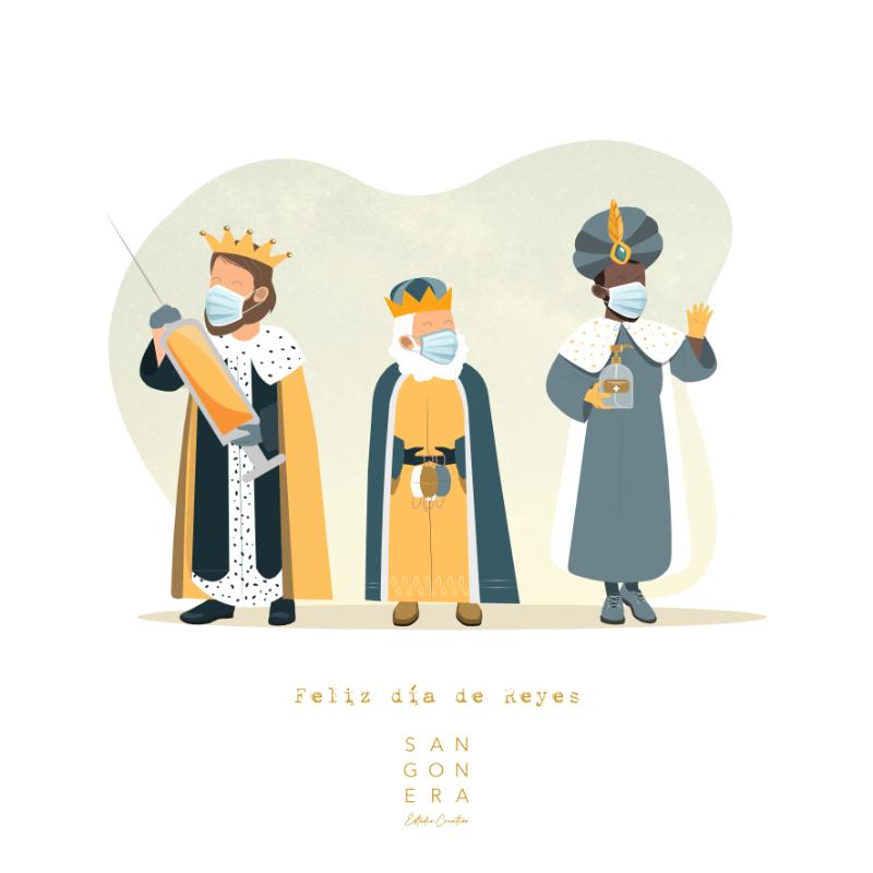 Reyes magos coronavirus, Ilustración Personalizada Digital, Sangonera Design