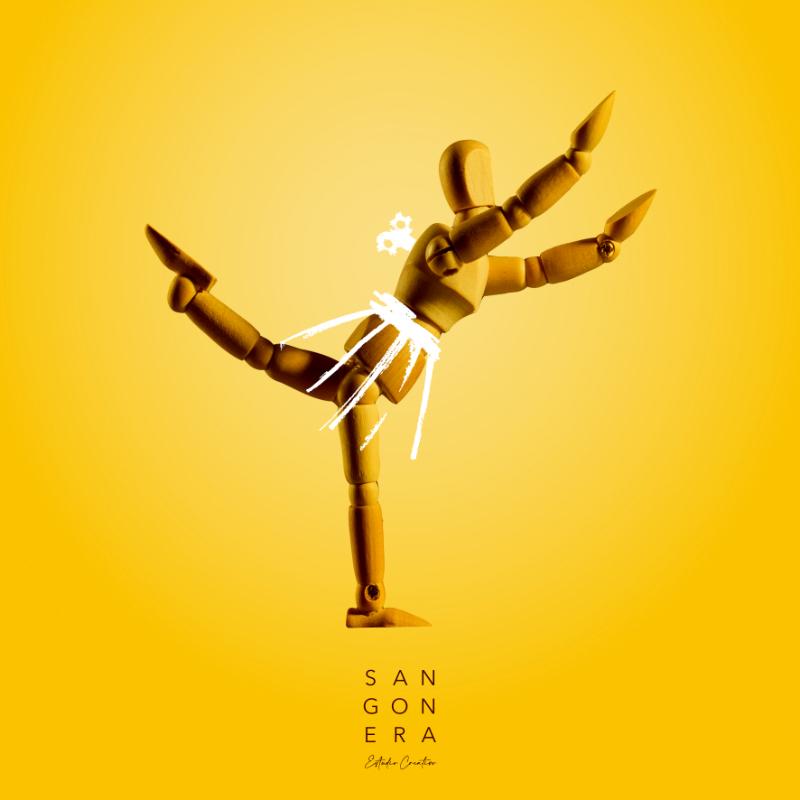 Ilustración Bailarina Ballet Clásico, Sangonera Design, Muñeca autómata de madera