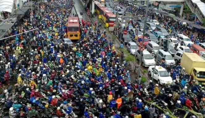 Kemacetan Jakarta | picsource: vivanews
