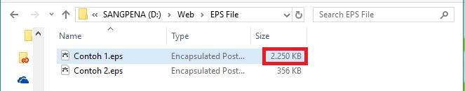 Tips Memperkecil File EPS