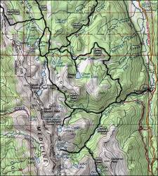 wilderness rawah map colorado forest backpacking national arapaho sangres maps roosevelt
