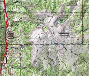 powderhorn wilderness map colorado area national maps