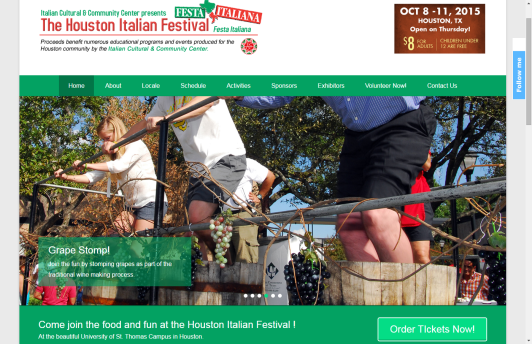 We did a complete overhaul of the Italian Festival's website in 2015