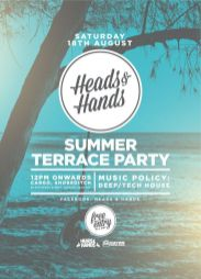 Flyer Heads and Hand Summer Terrace Party